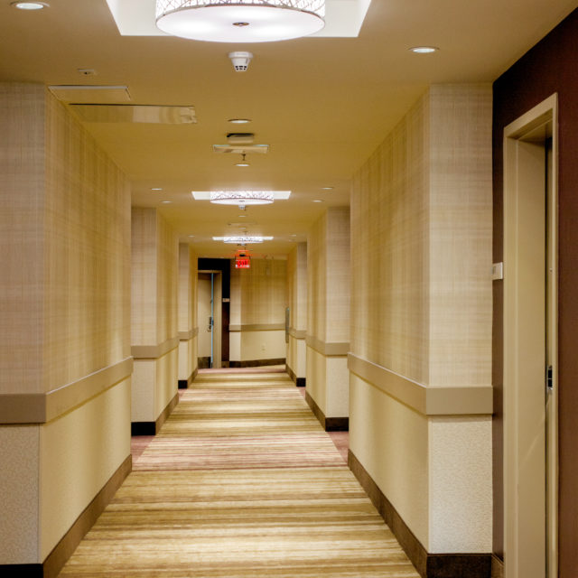 hallway carpet install