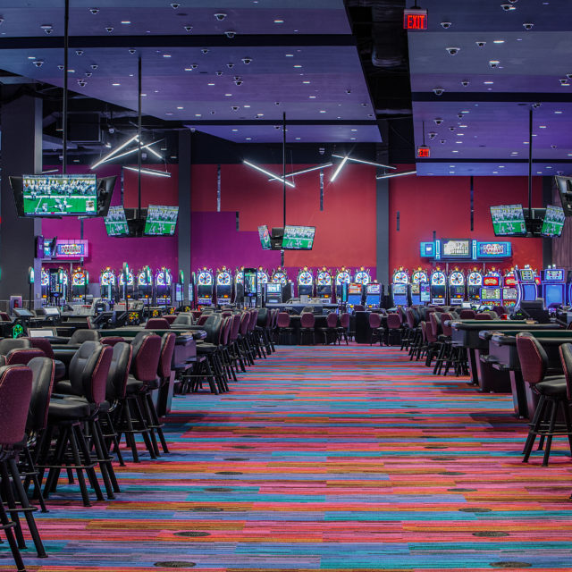 Wide Shot of Casino Flooring at Harrah's
