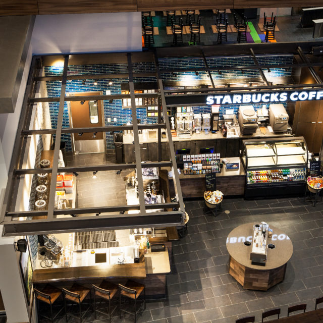 Durable Resilient Flooring at Harrah's Starbucks Cafe