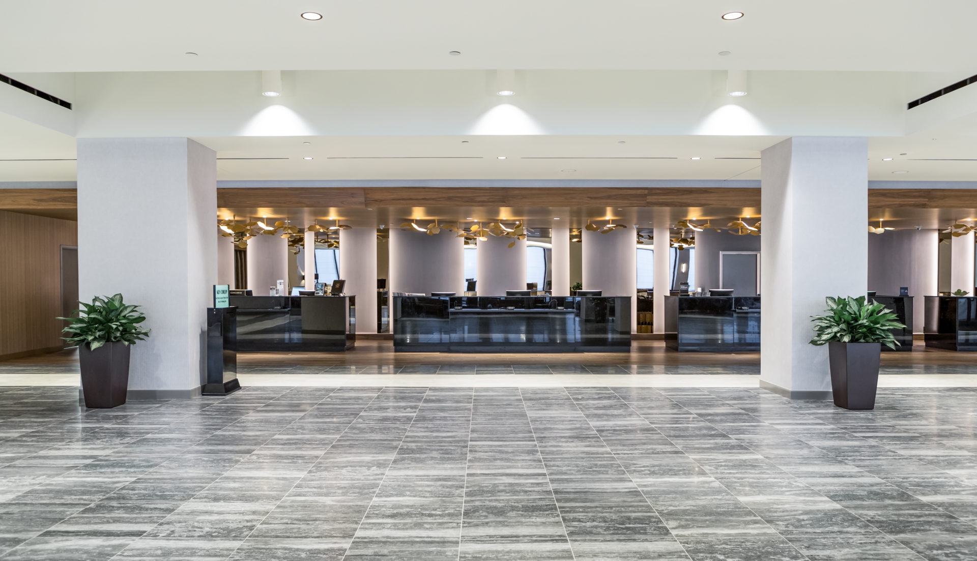 Reception Area features gray tile