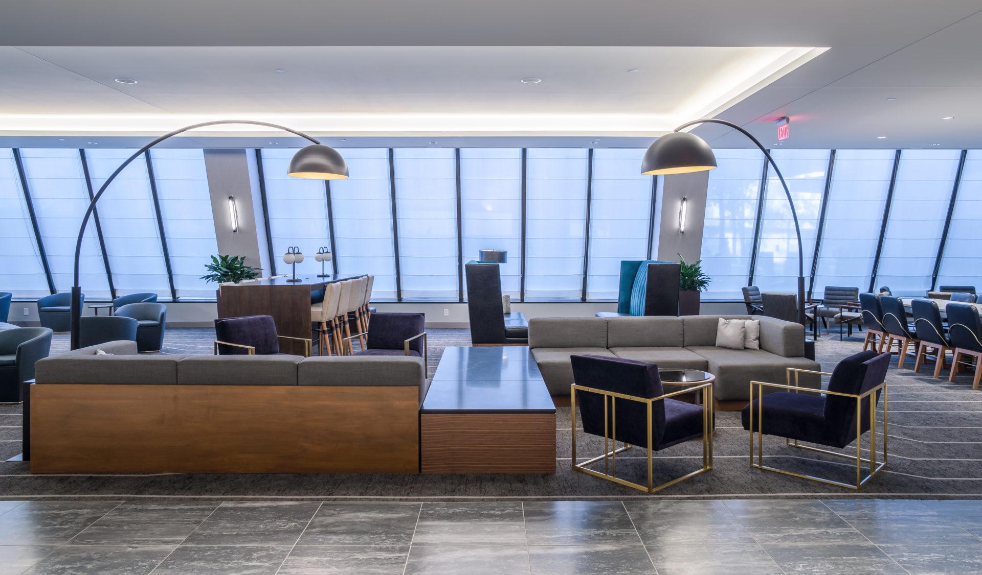 Beautifully designed lounge area at hotel
