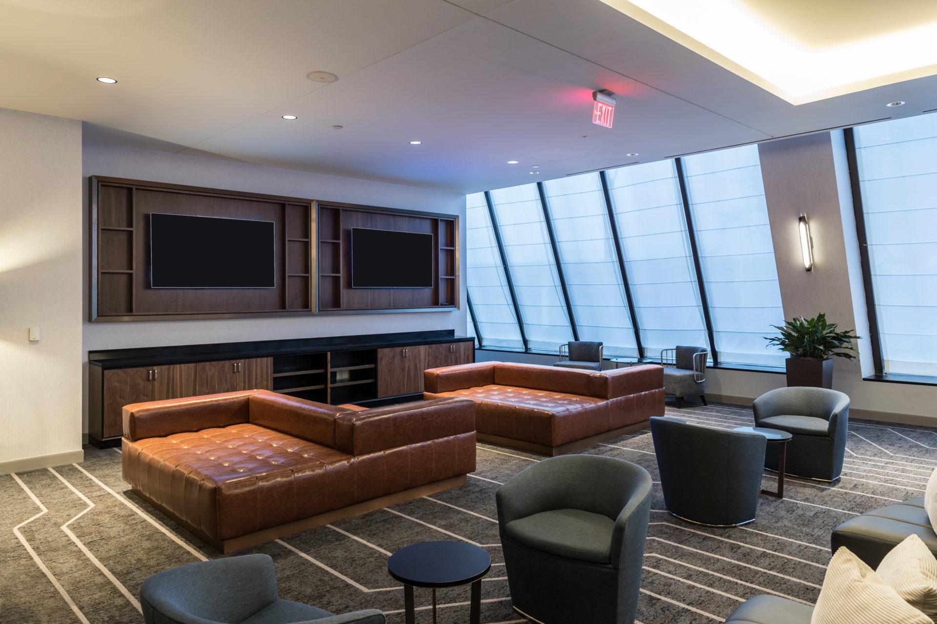 Interior design includes lounge area