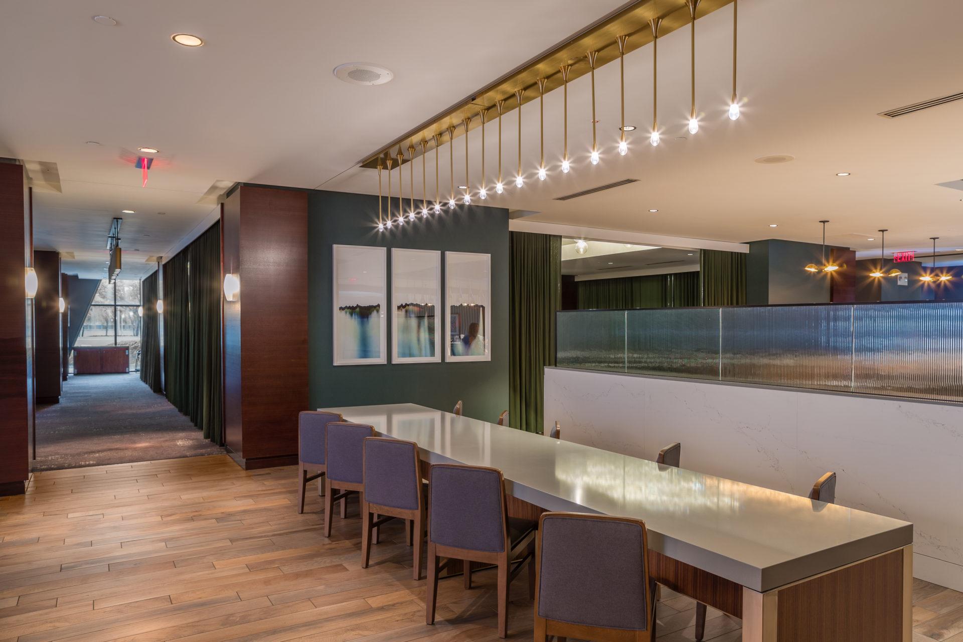 Hotel bar with tiled floors