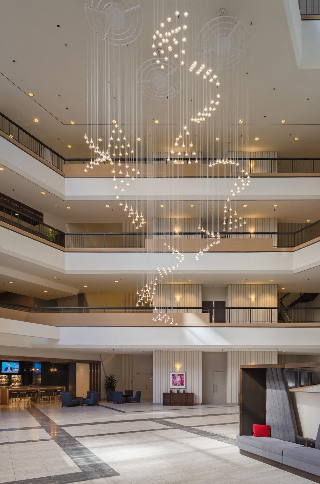 Hilton atrium features Daltile