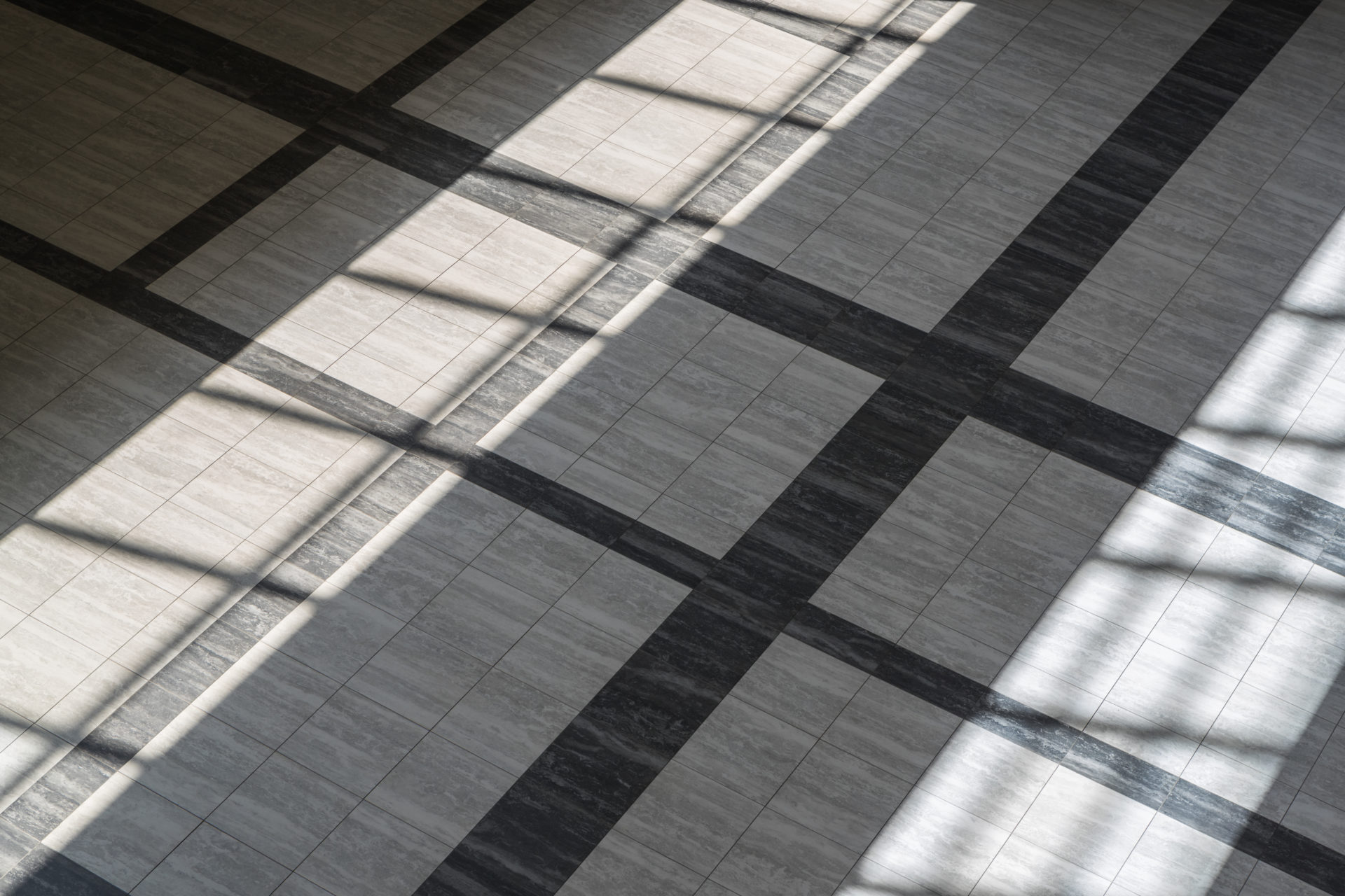 Flatlay image of tile in lobby at Hilton