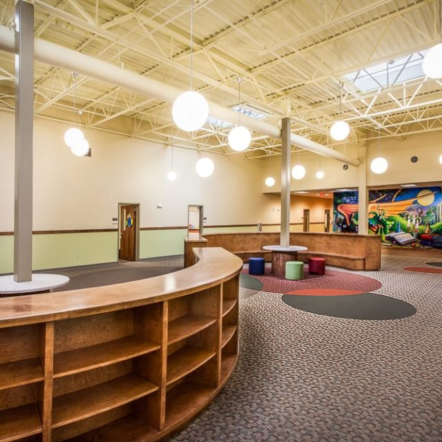 DCO Commercial Floors installed carpet in library