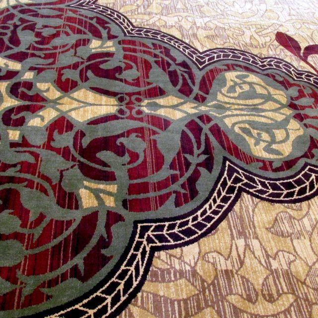 Regal carpet in event space