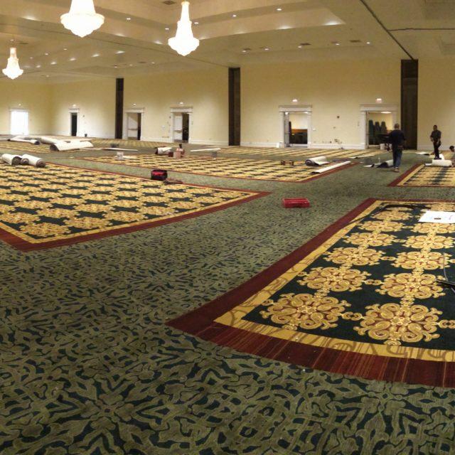 ballroom floors with carpet