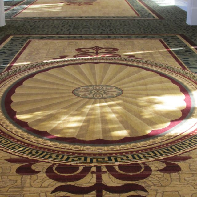 commercial grade carpet in event space