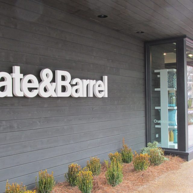 Exterior Shot of Crate & Barrel