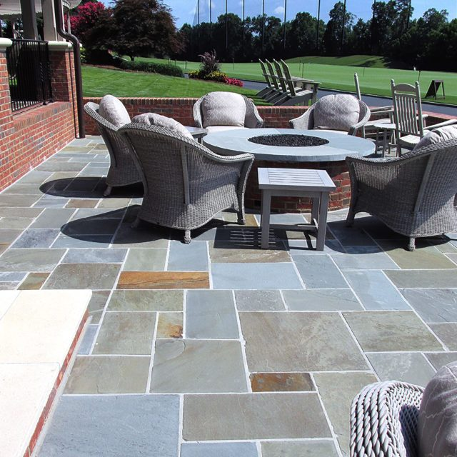 Beautiful stone used on patio