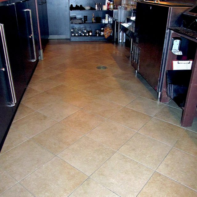 Slip-resistant floors for bar area