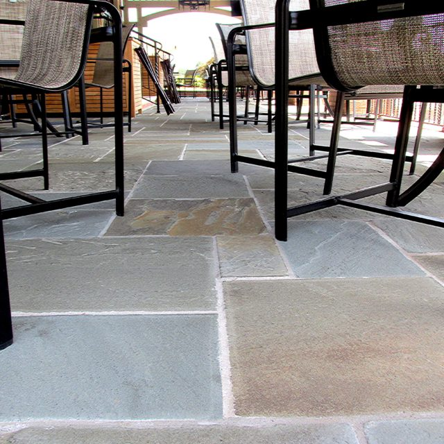 Natural Cleft Bluestone patio