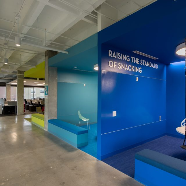 Vibrant Carpet in Office Spaces at FOCUS Brands