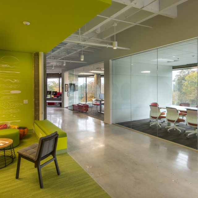 Lime Green Carpet Floors at FOCUS Brands