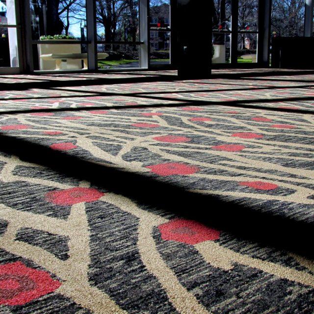 Floral Details in Dark Carpet