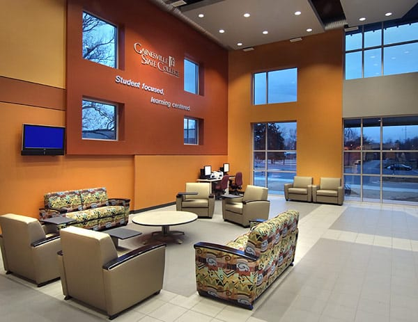 Georgia State University Student Center lounge area with tile