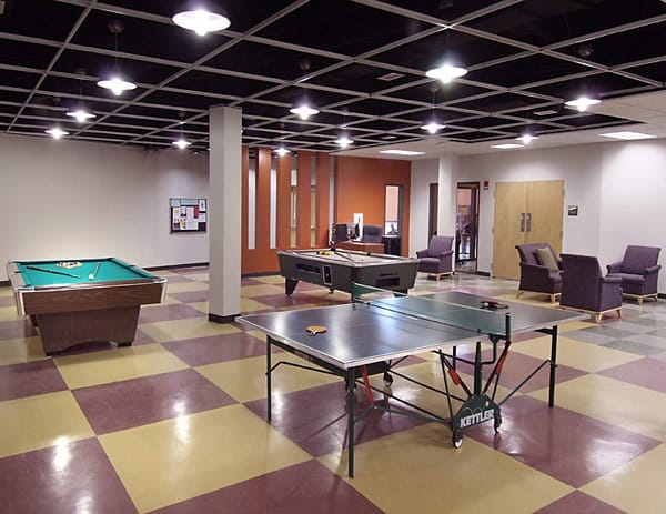 DCOCF installed VCT in the game room at Georgia State University Student Center