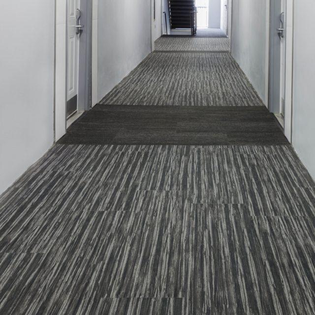 Grey Carpet in Hallway of GSU's West Village