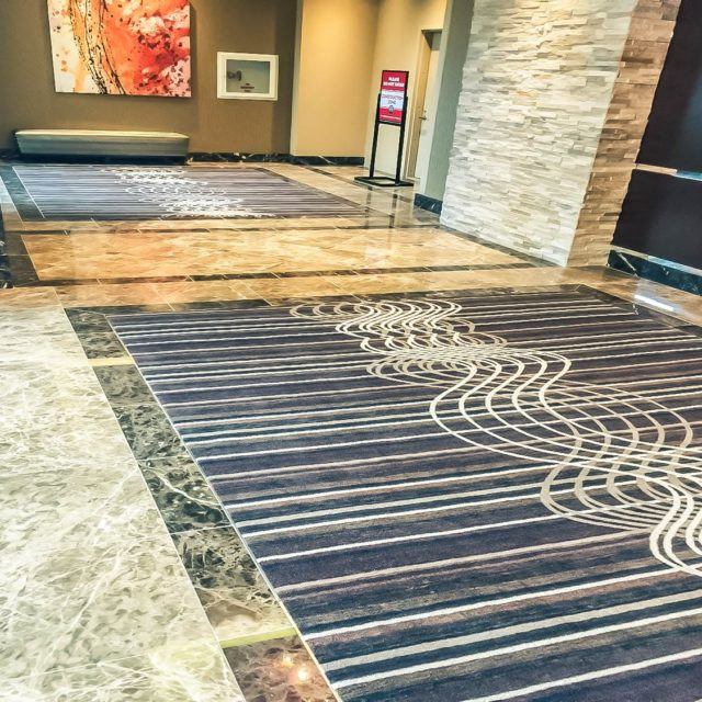 Marble Floors & Patterned Carpet at the Golden Nugget