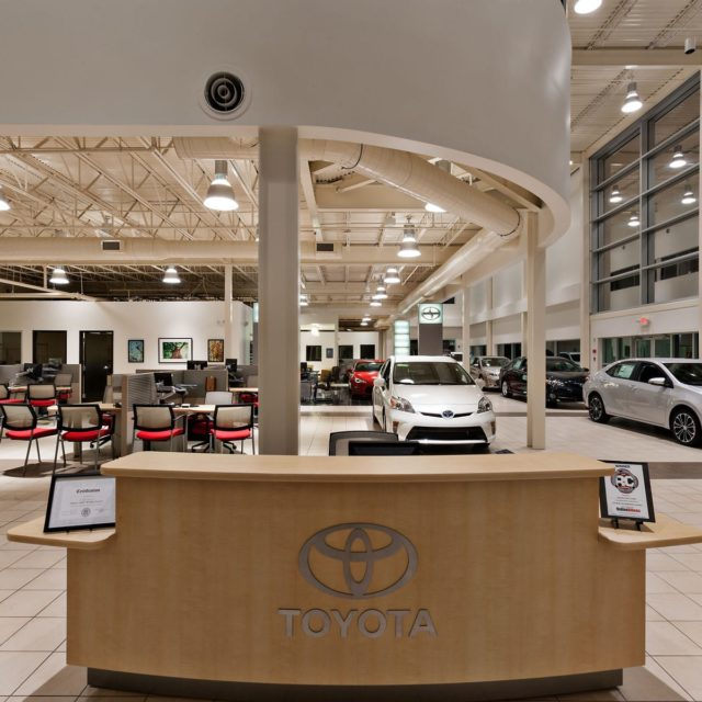 Resilient Tile Floors Behind Front Desk at Heyward Allen Toyota
