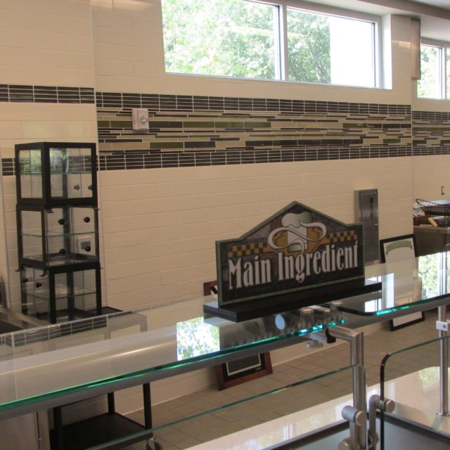 Cafeteria service area at Holy Innocents Episcopal School