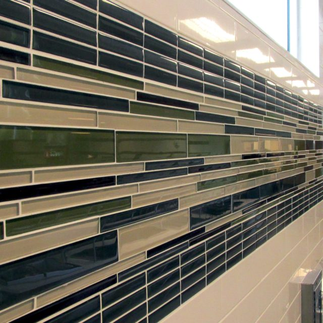 Accent pencil tile at Holy Innocents Episcopal School