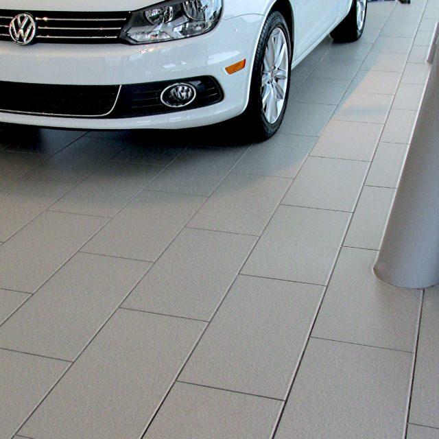 Grey Textured Tile Floors at Nalley Volkswagen