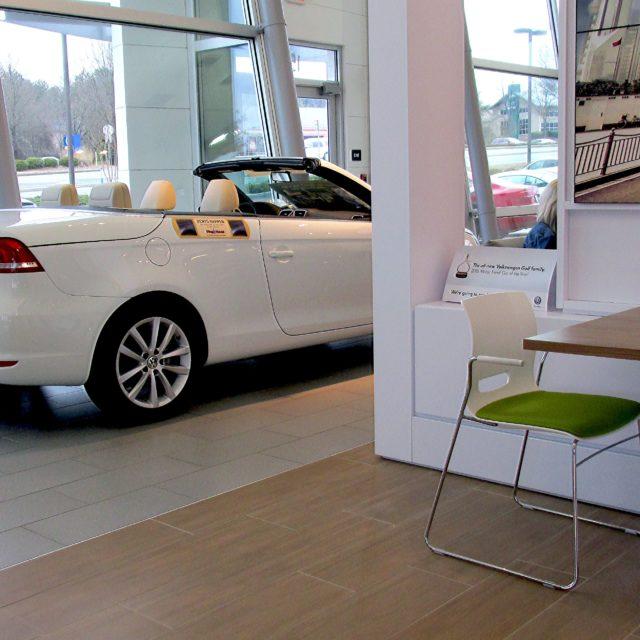 Tile Floors in Showroom at Nalley Volkswagen