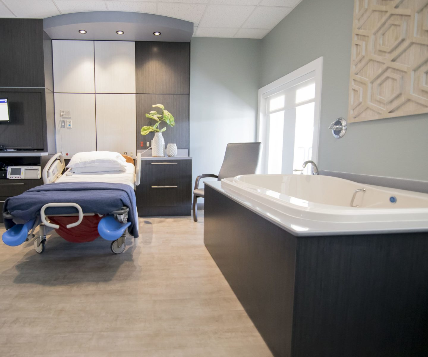 Labor and Delivery Room with American Olean tile