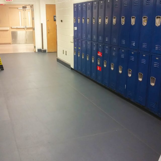 Protect-All Flooring by lockers