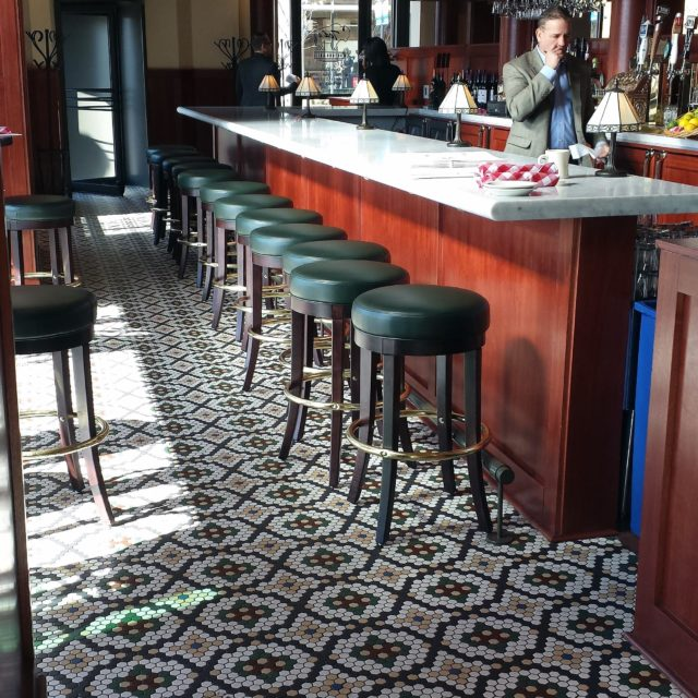 Mosaic Tile in Restaurant and Bar Setting