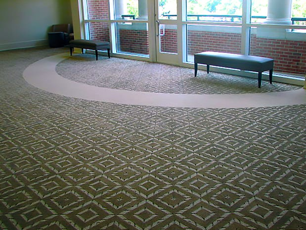 Diamond Patterned Carpet at UGA