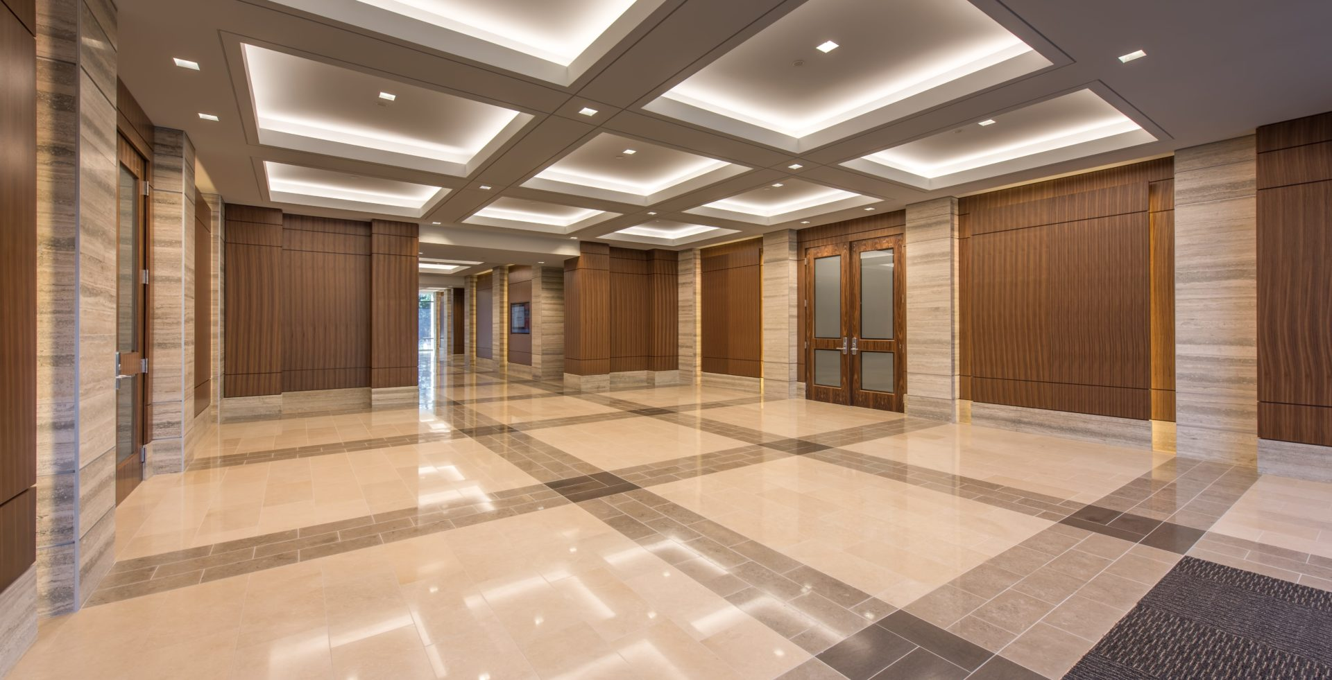High End Stone Flooring in Reeves Young Lobby