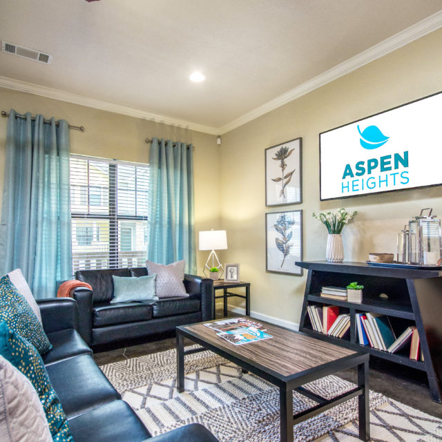 Aspen Heights - Clemson living room