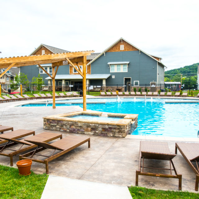 Pool area at Aspen Heights - Harrisonburg