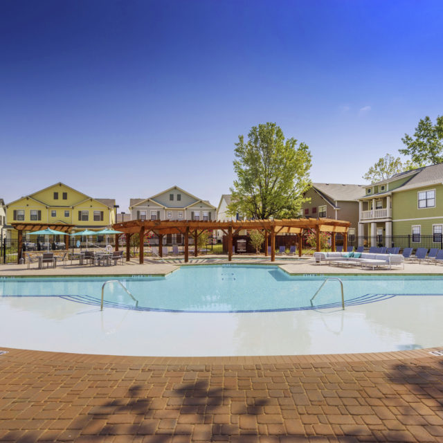 Pool area at Aspen Heights - Norman